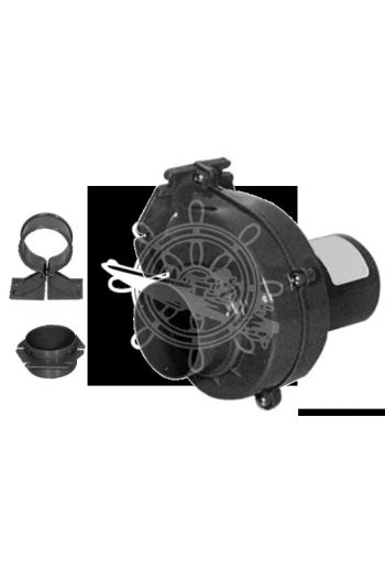 Bilge gas electric blower (Voltage: 12V, Range m3/h: 150, Current draw A: 3, Inlet Ø: 76 mm, OPTIONAL hose: 16.104.35)