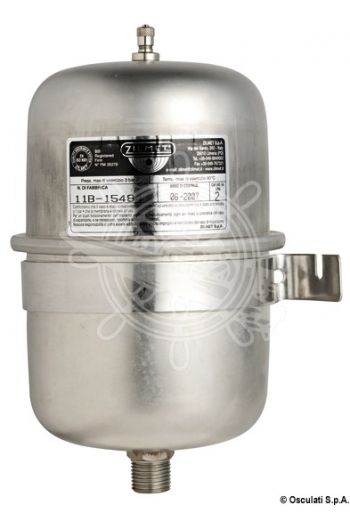 Universal accumulator tank for fresh water pumps and water heaters