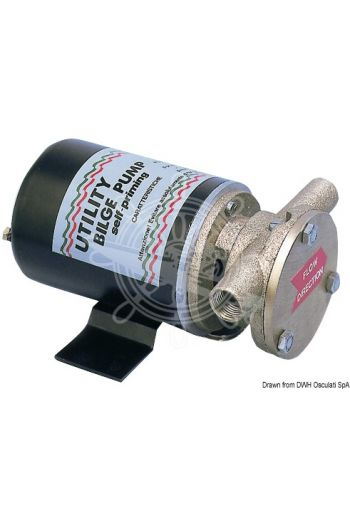 "Self-Priming professional bilge pump (V: 24, Flow lt/min: 80, Current draw A: 21, Fittings: 3/4"", Spare impeller: 16.194.35)"