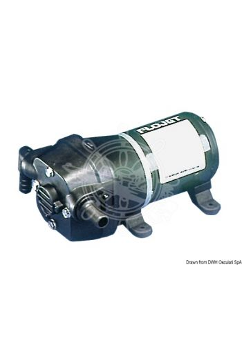 FLOJET self-priming and draining pump (V: 12, Flow: Da 3,8 a 14,7 l/min, Current draw A: 2,8, Self-priming up to: 1,80 m, Hose adaptor: 14-mm Ø strai)