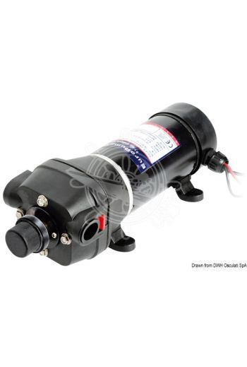 Europump Autoflush variable speed fresh water pump (Type: Europump AUTOFLUSH, volt: 12, Max flow: 17 l/min, Current draw max: 9,2 A, Max pressure bar: 2,45, Measu)
