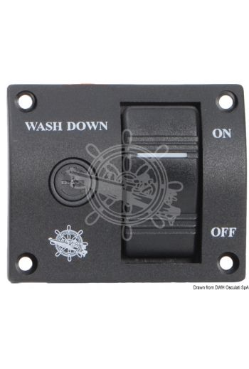 Panel switch for washdown pump (For pumps: 12 V, Current draw A: 25, Measures: 75x60)