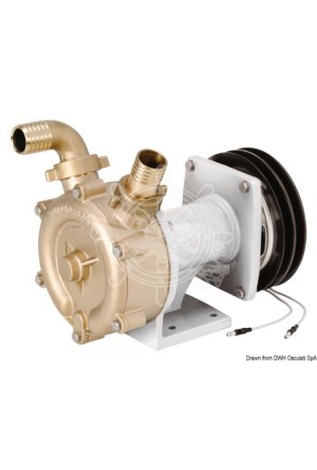 Bronze self-priming impeller pump with electromagnetic clutch