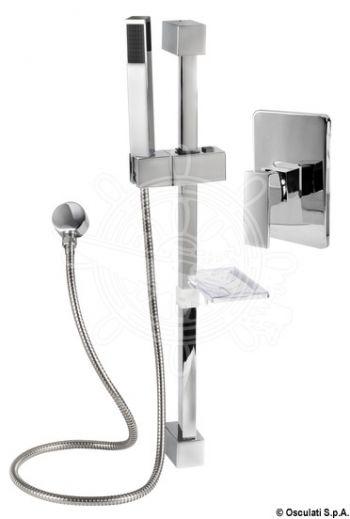 Square shower rail (single-control rail) (A: 120 mm, B: 660 mm, D: 180 mm)