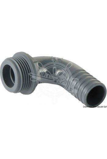 90° polypropylene male hose connector