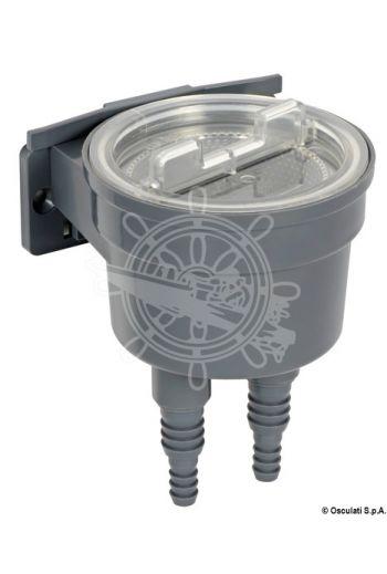 Aquanet cooling water filter (Flow l/min: 150, Hose connector: 13 mm (1/2'') - 19 mm (3/4'') - 25 mm (1''), Measures: Ø 121 x 172 h)
