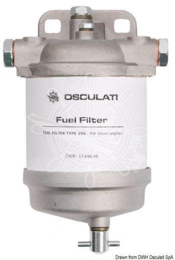 Diesel filter type CAV with water drain