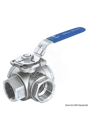 3-way ball valve female/female/female