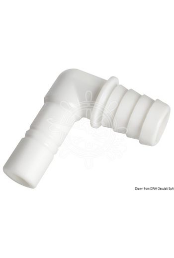 WHALE cylindrical elbow joint for flexible pipe size 20 mm