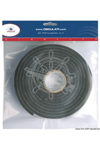 Self-adhesive tape for seals of portlights, hatches, windows, etc.