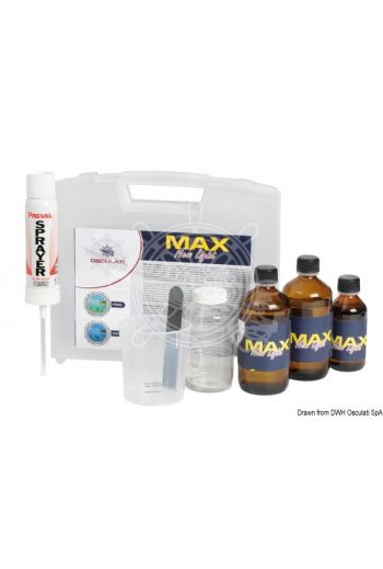 Max New Light anti-scratch restorer for polycarbonate surfaces (Description: Plexiglass/polycarbonate restorer, Surface to be treated: 5/6 m2)