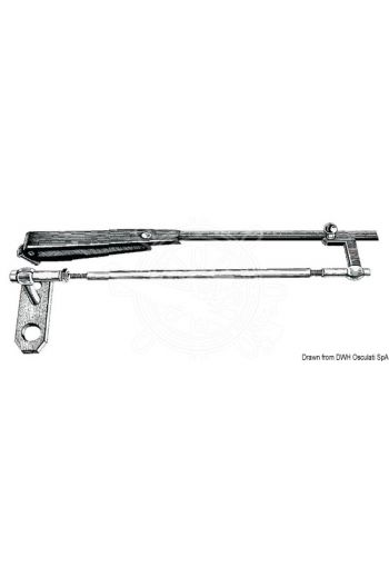 Stainless steel parallelogram arm for windshield wipers