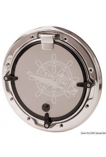 BOMAR Flagship round portlight (Outer Ø: 254 mm, Cut size Ø: 229 mm, Net light Ø: 159 mm, Hull thickness: 9,50 / 22,20 mm)