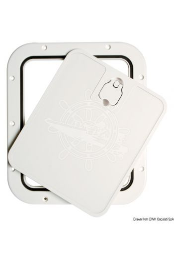 Inspection hatch with removable front lid
