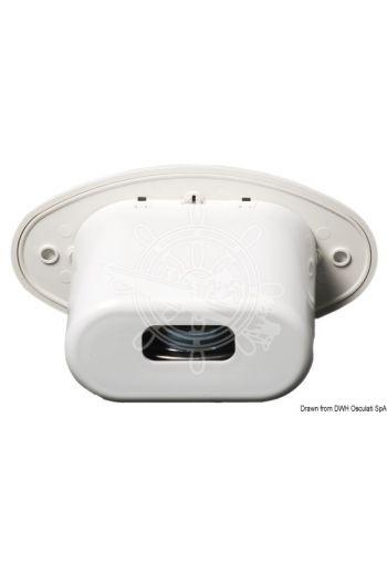 Flush mount foldable horn (V: 12, Power: 105 dB, Frame mm: 125x66, Recess mm: 85x50x80 (depth))
