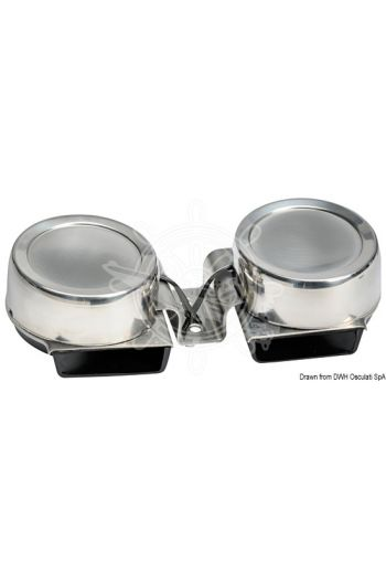 Compact diaphragm horn (Model: Double, Tune: Low + high, volt: 12, A: 4)
