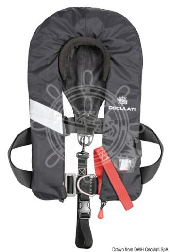 Sail Pro self-inflating lifejacket - 180N (EN ISO 12402-3) (Activation: Hammar automatic, Outside colour: Black)