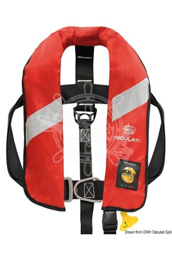 Security self-inflatable lifejacket with HAMMAR hydrostatic inflation - 165 N (EN ISO 12402-3) (Activation: Hammar automatic, Colour: Red, Bottle + Hammar MA1: 22.395.10)