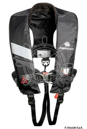 Professional self-inflatable lifejacket 180N (EN ISO 12402-3) (Colour: black, Bottle + spare valve: 22.397.10, OPTIONAL SOLAS warning light: 22.409.26)