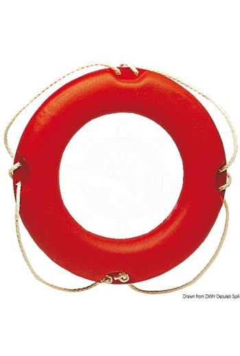 Ring lifebuoy (it conforms to the old Ministerial Decree 20/4/78) (Description: Made of orange Eltex, filled with polyurethane foam, 35x60 cm Ø.)