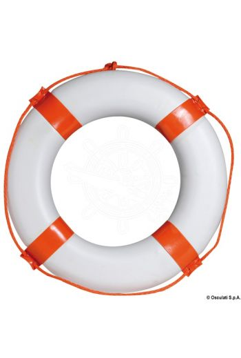 Ring lifebuoy (it conforms to the old Ministerial Decree 20/4/78) (Description: Made of anti-petrol plastic foam coated with electrowelded PVC; outer Ø 58 cm.)