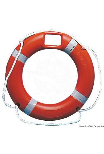Approved ring lifebuoy, with floating rescue light housing
