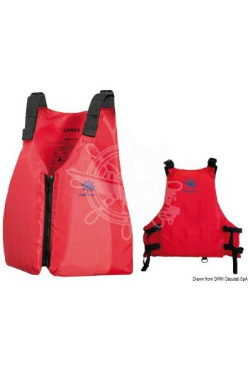 Canoe buoyancy aid - 50N (EN ISO 12402-5) (Colour: red, Size: One size fits all adults)
