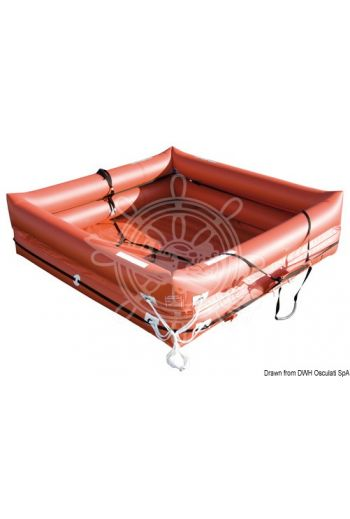Coastlife liferaft (Seats: 12, Bag: Soft bag, Measures: 68x29x35, Weight in kg: 44)