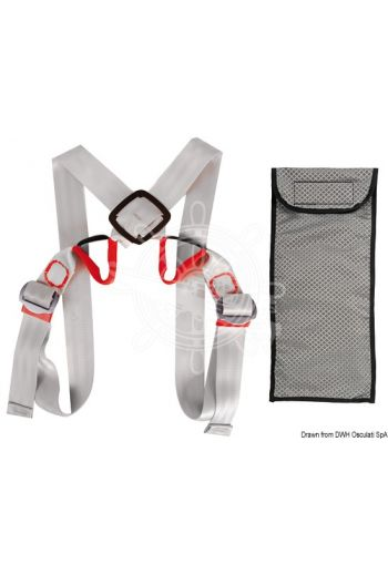 Ultra-light safety belt (Size: universal, Reference standards: EN1095 / ISO12401)