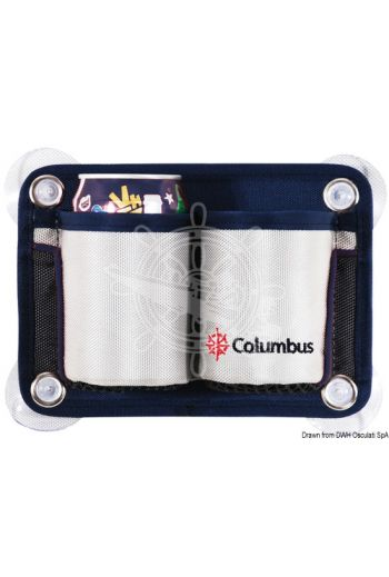 COLUMBUS 2-place glass/can holder pouch