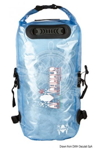 AMPHIBIOUS Kikker watertight backpack/bag (Capacity: 20 l, Colour: Clear light blue, Drops: 5, Lifebelt: 3, Measures: 60x32x14 cm, Weight in g: 710)