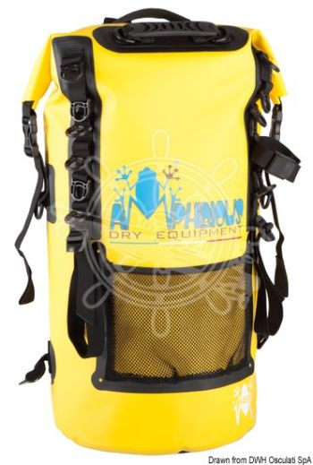 AMPHIBIOUS Quota watertight backpack (Capacity: 30 l, Colour: Yellow, Drops: 5, Lifebelt: 3, Measures: 58x24 cm, Weight in g: 770)