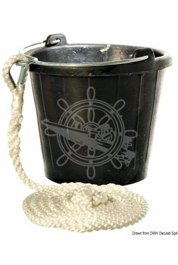 Rubber sinking bucket (Capacity l: 8, Accessories: Polyester line, 3-m splicing)