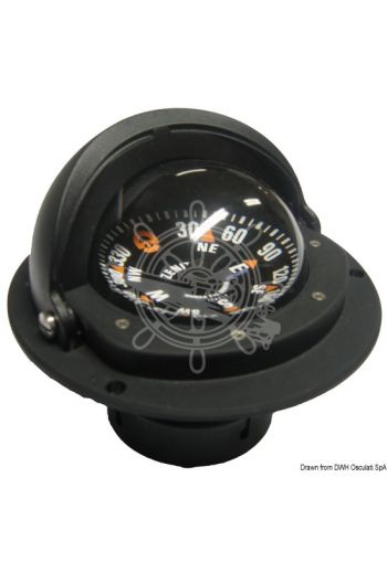 RIVIERA Zenit recess fitting compass with telescopic anti-glare screen