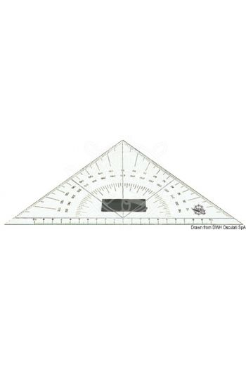 Plexiglass triangular protractor