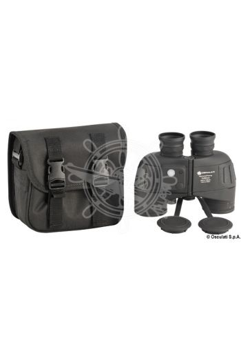 Professional binoculars 7x50 fitted with compass (Focus: Automatic and ocular, Prisms: BaK4, Floating shoulder strap: 26.762.00 OPTIONAL)