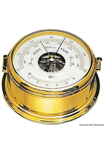 Barometer/thermometer (Box: 180 mm, Dial: 150 mm)