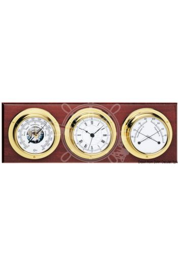 Genuine BARIGO instruments kit, fitted with 3 instruments (Instrument: Barometer/hygrometer/Thermometer, Measures: 370x130 mm)