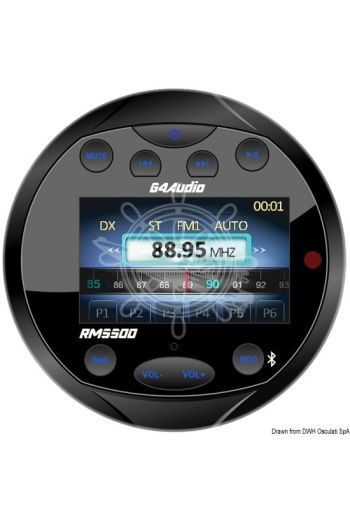 GUSSI-SWEDEN FM/Bluetooth/USB/Mp3 radio for instrument panel with radio remote control