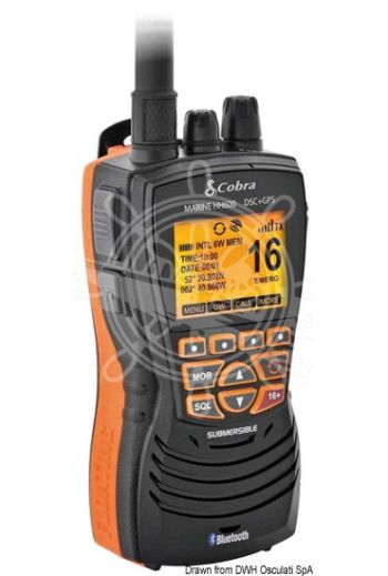 COBRA MARINE MR HH600 GPS BT EU VHF (Measures: 131x72x47, Weight in g: 329)
