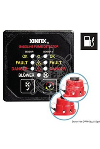 XINTEX G-2B-R gas/petrol fume detector (V: 10/30, Max current draw mA: 150, Measures: 67x67, OPTIONAL 6-m additional cord: 29.787.11, Spare sensor: 29)