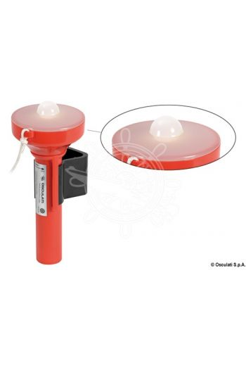 Mini One LED floating rescue light (Power: 2 x AA batteries, Mounting bracket: Included)