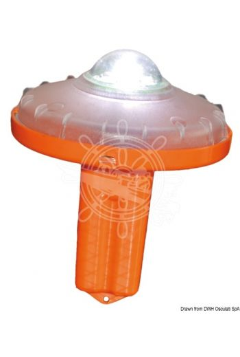 KTR LED floating rescue light with automatic tilt switching (Ø mm: 110, Height mm: 135, Weight in kg: 0,160)