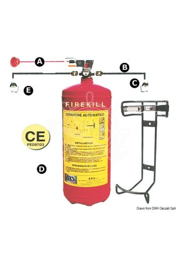 RINA-approved automatic fire extinguishing system