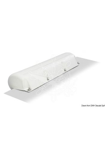 White PVC inflatable marina fenders (Length cm: 88,5, Section cm: 27x27)