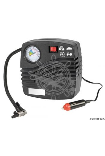 Electrical inflater for fenders (Volt: 12, Max pressure: 250 PSI, Flow l/min: 20, Measures: 142x142, Weight in kg: 0.6)