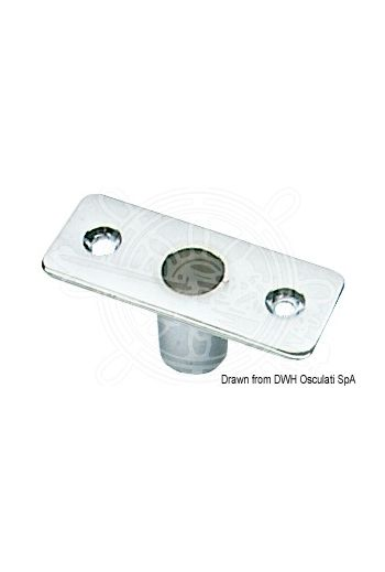 Socket for chromed brass rowlocks