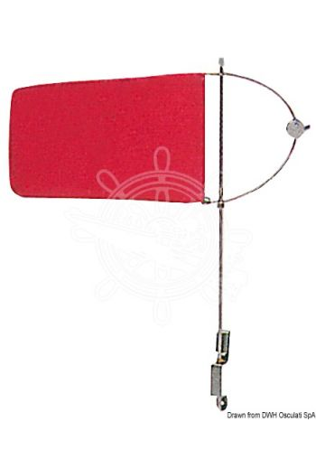 Wind indicator (Material: stainless steel with nylon flag, Measures: 160x100)