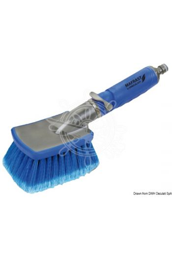 Mafrast hand brush (Type: Brush with water flow system, standard snap coupling)