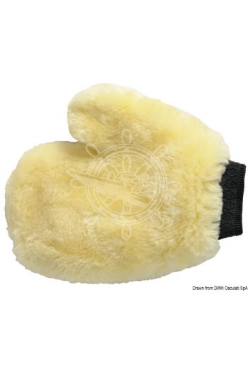 Mafrast lamb wool mitt (Description: Ideal to wash and clean. It can be used wet or dry.)